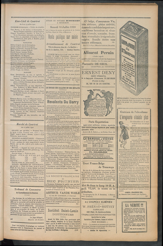 L'echo De Courtrai 1910-07-14 p3