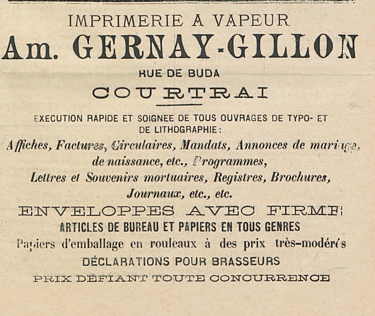 Am GERNAY-GILLON