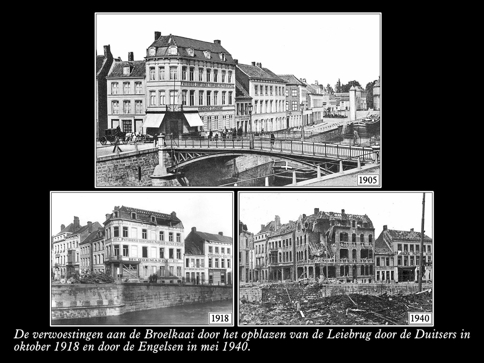 Broelkaai 1905 1918 1940