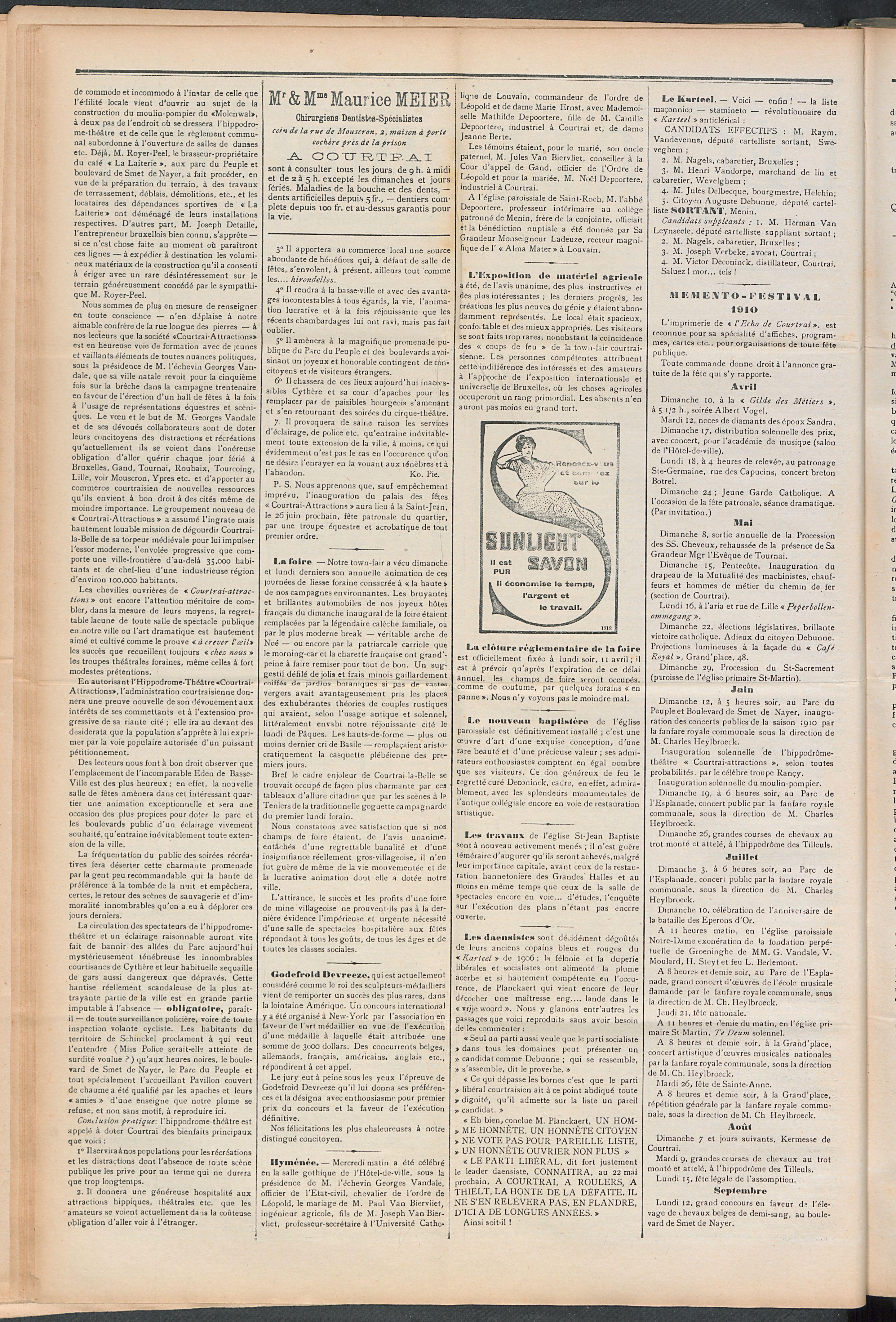 L'echo De Courtrai 1910-04-10 p2