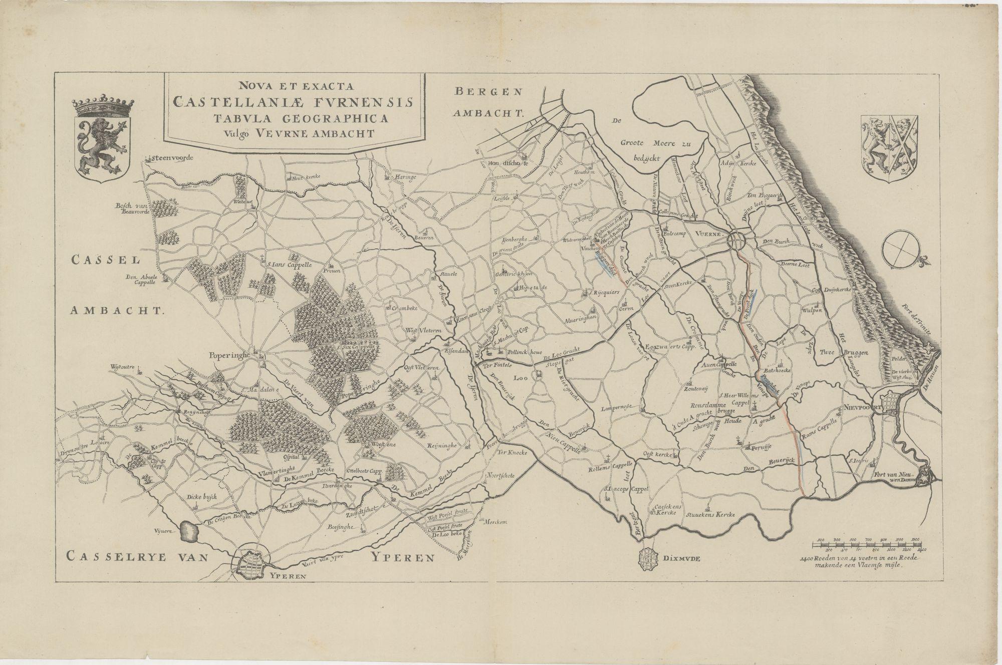 Westflandrica - kaart van Veurne Ambacht