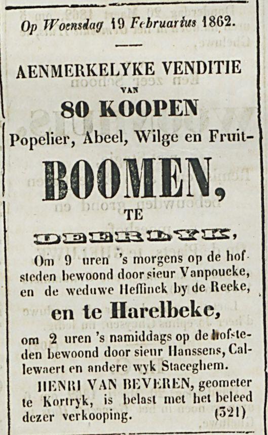 BOOMEN- TE DEERLYK