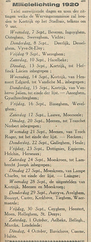 MIllilicielichting 1920