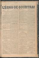 L'echo De Courtrai 1887-12-01