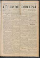 L'echo De Courtrai 1914-07-30