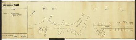 Plan van de kabellegging voor sirene, telefoon, enz. tussen het gemeentehuis en het brandweerarsenaal te Heule, 1968.