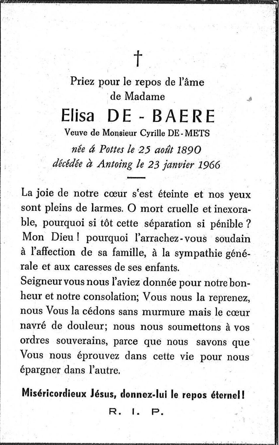 Elisa De Baere