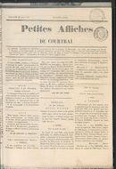 Petites Affiches De Courtrai 1835-08-30 p1