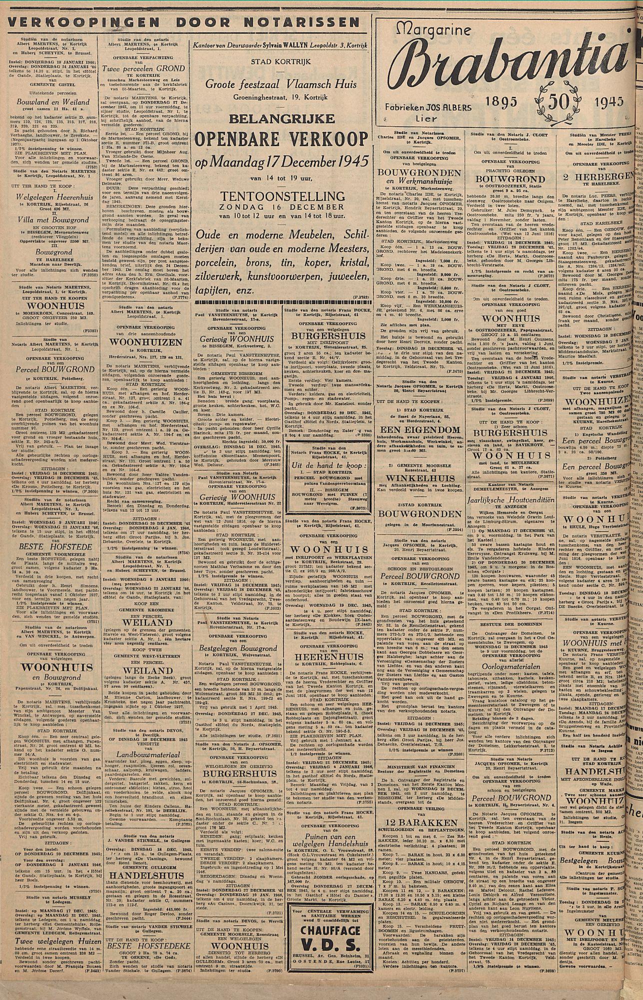 Kortrijksch Handelsblad 14 december 1945 Nr99 p4