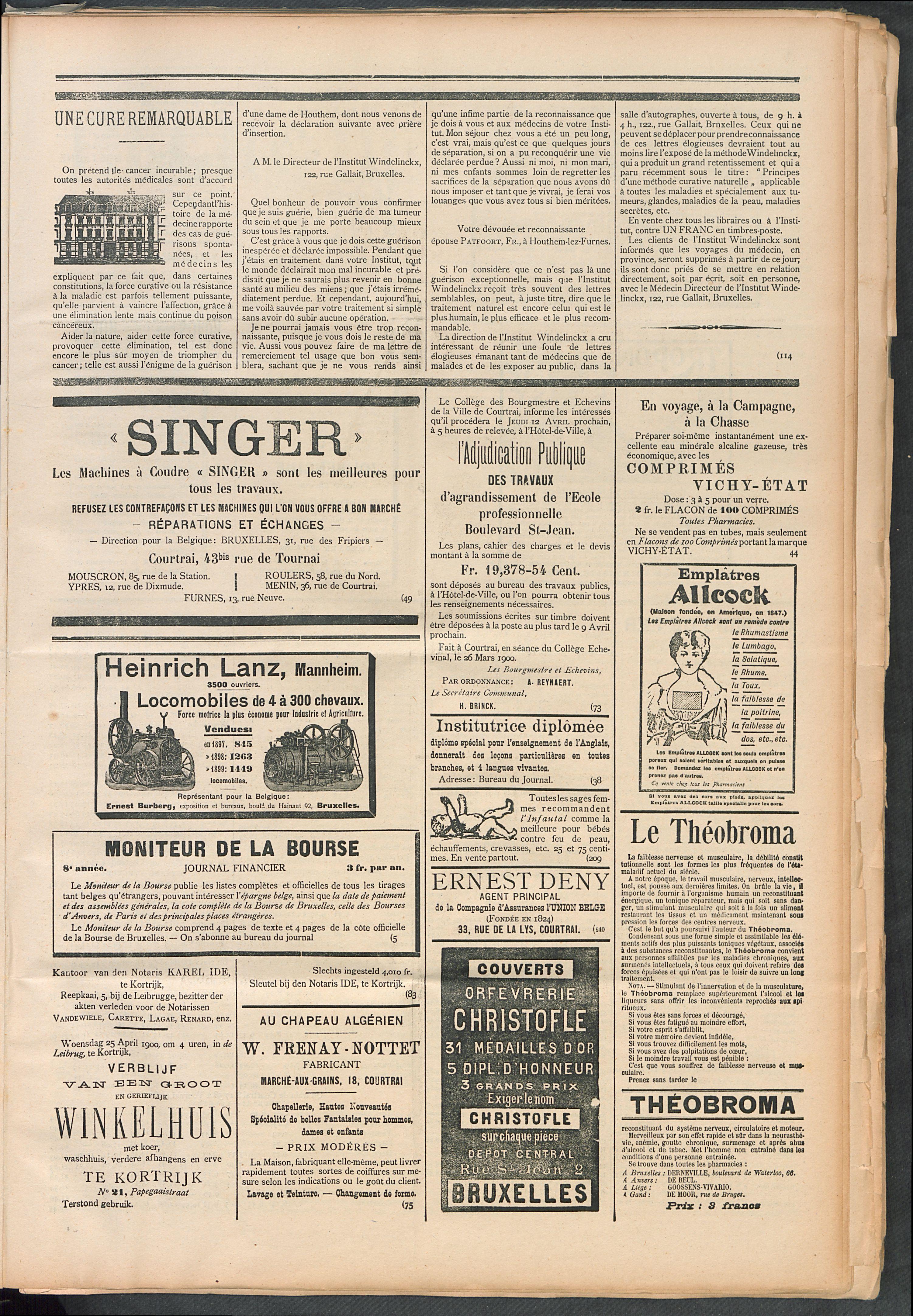 L'echo De Courtrai 1900-04-15 p5
