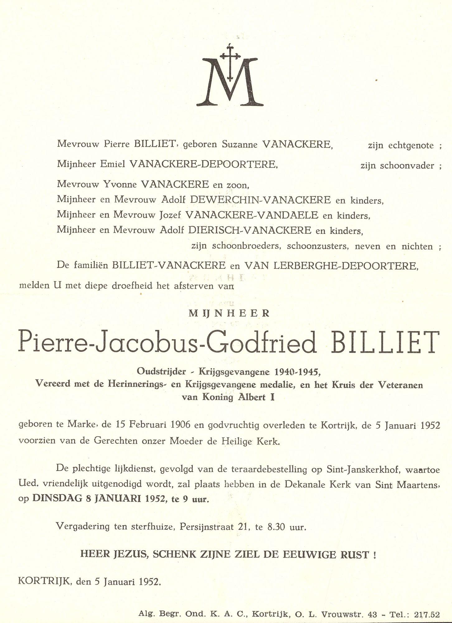 Pierre-Jacobus-Godfried Billiet