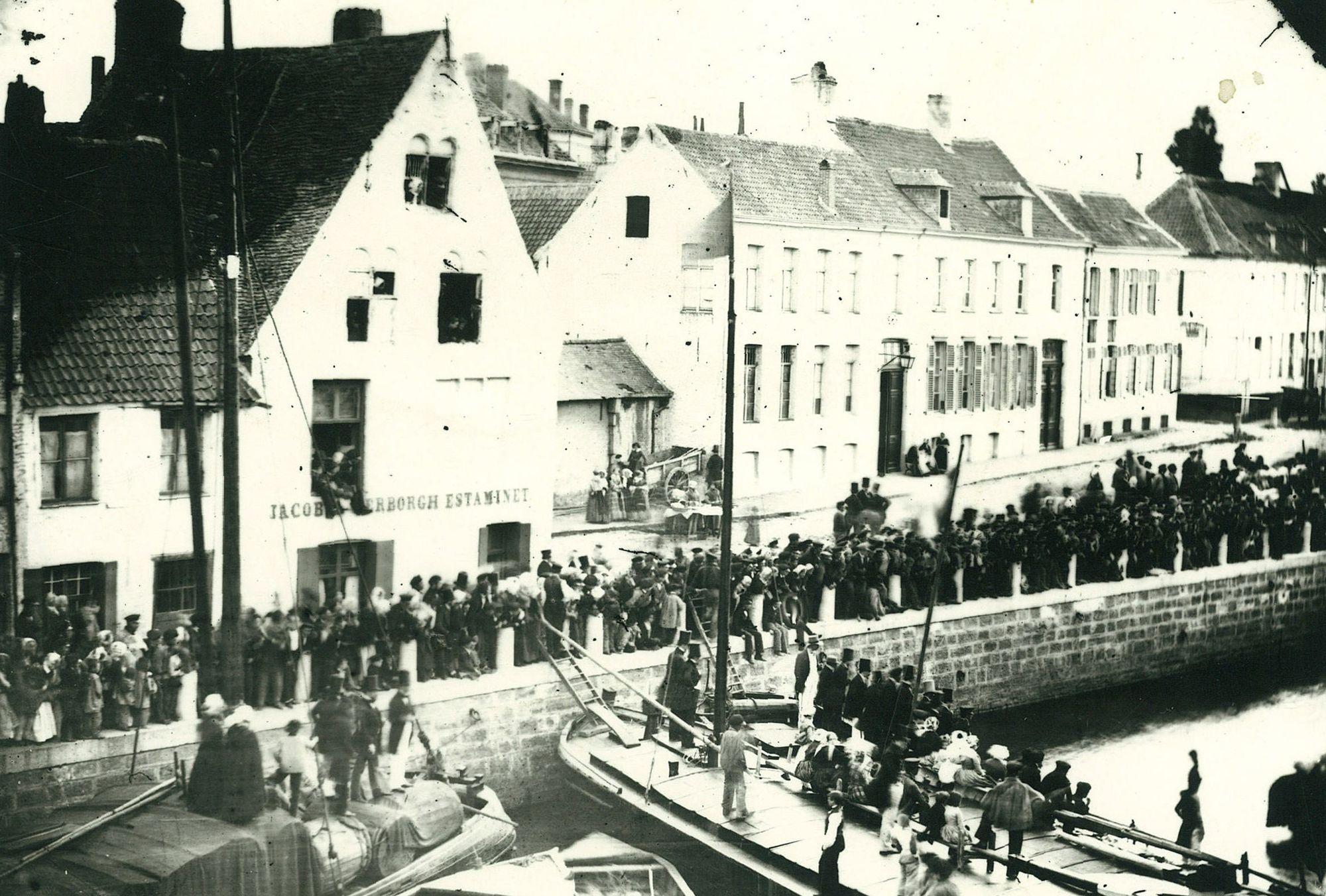Steekspel op de Leie in 1856
