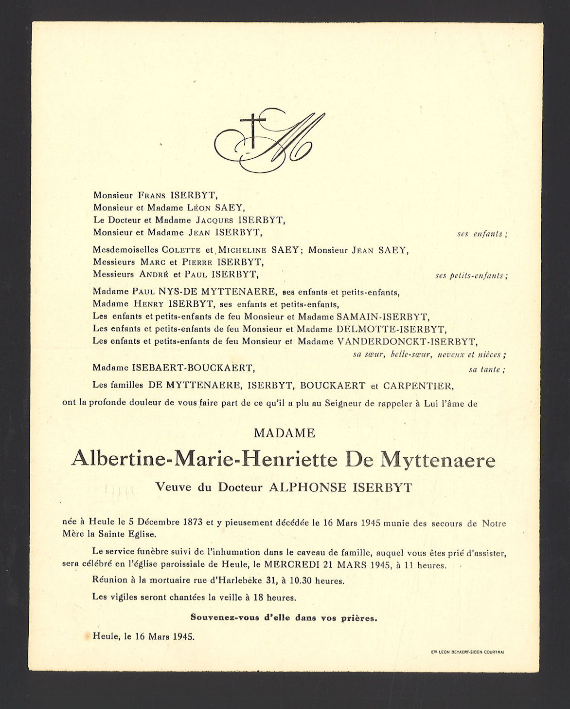 Albertine-Marie-Henriette De Myttenaere