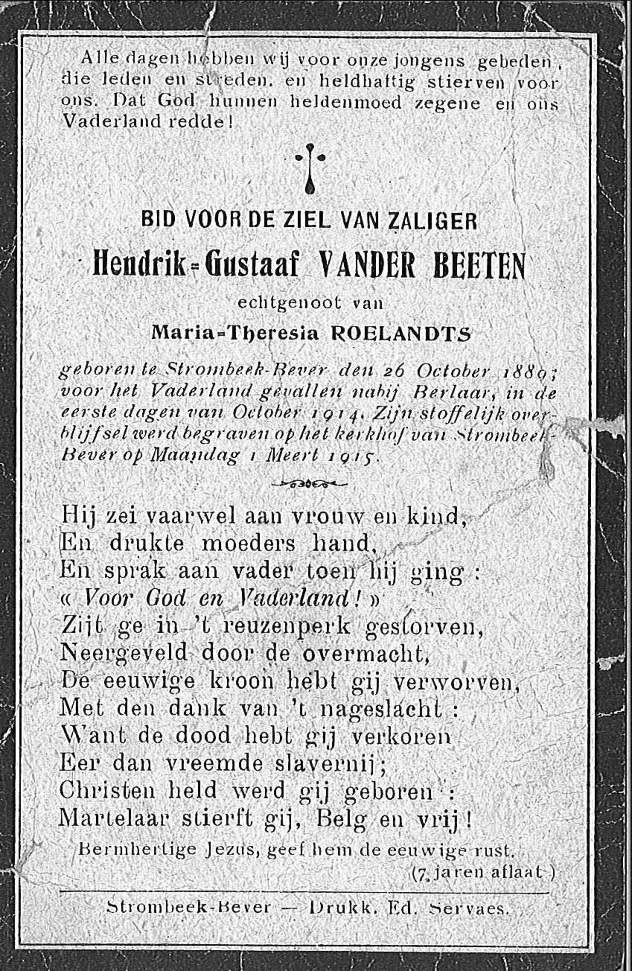 Hendrik-Gustaaf Vander Beeten