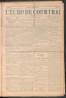 L'echo De Courtrai 1910-01-30 p1
