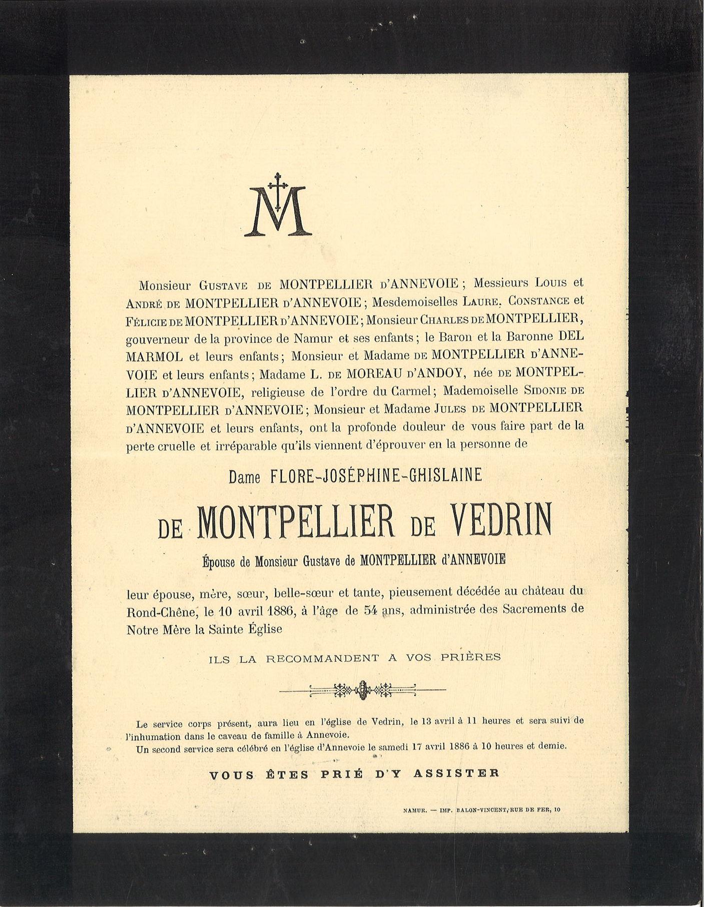 Flore-Joséphine-Ghilsaine de Montpellier de Vedrin