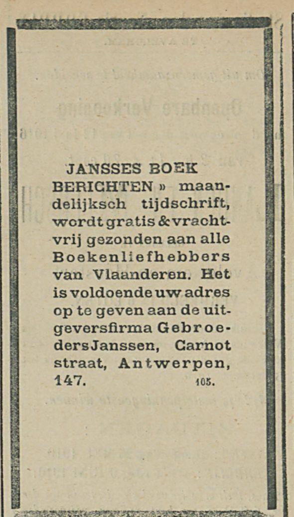 JANSSES BOEK