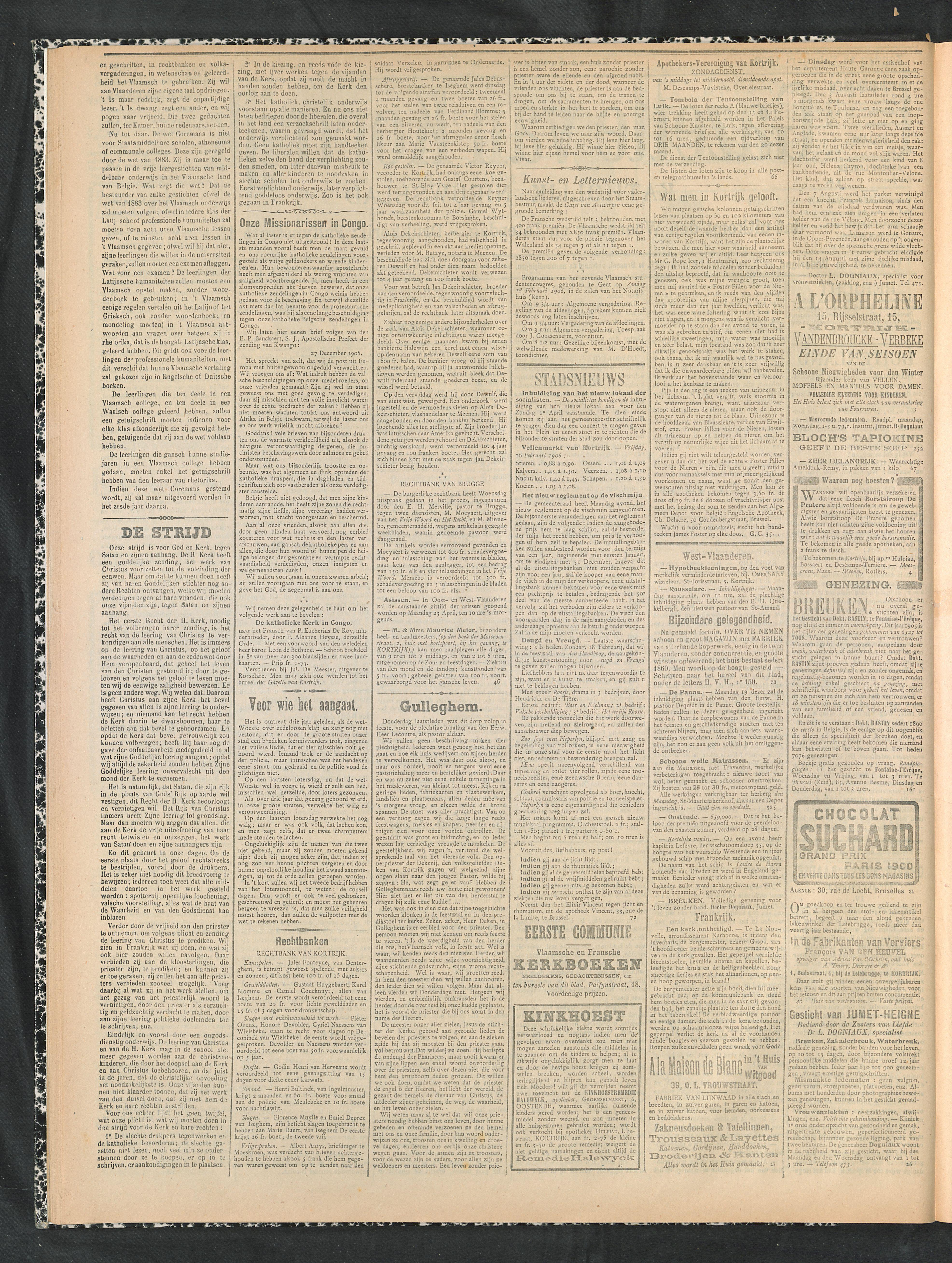 Gazette Van Kortrijk 1906-02-18 p2