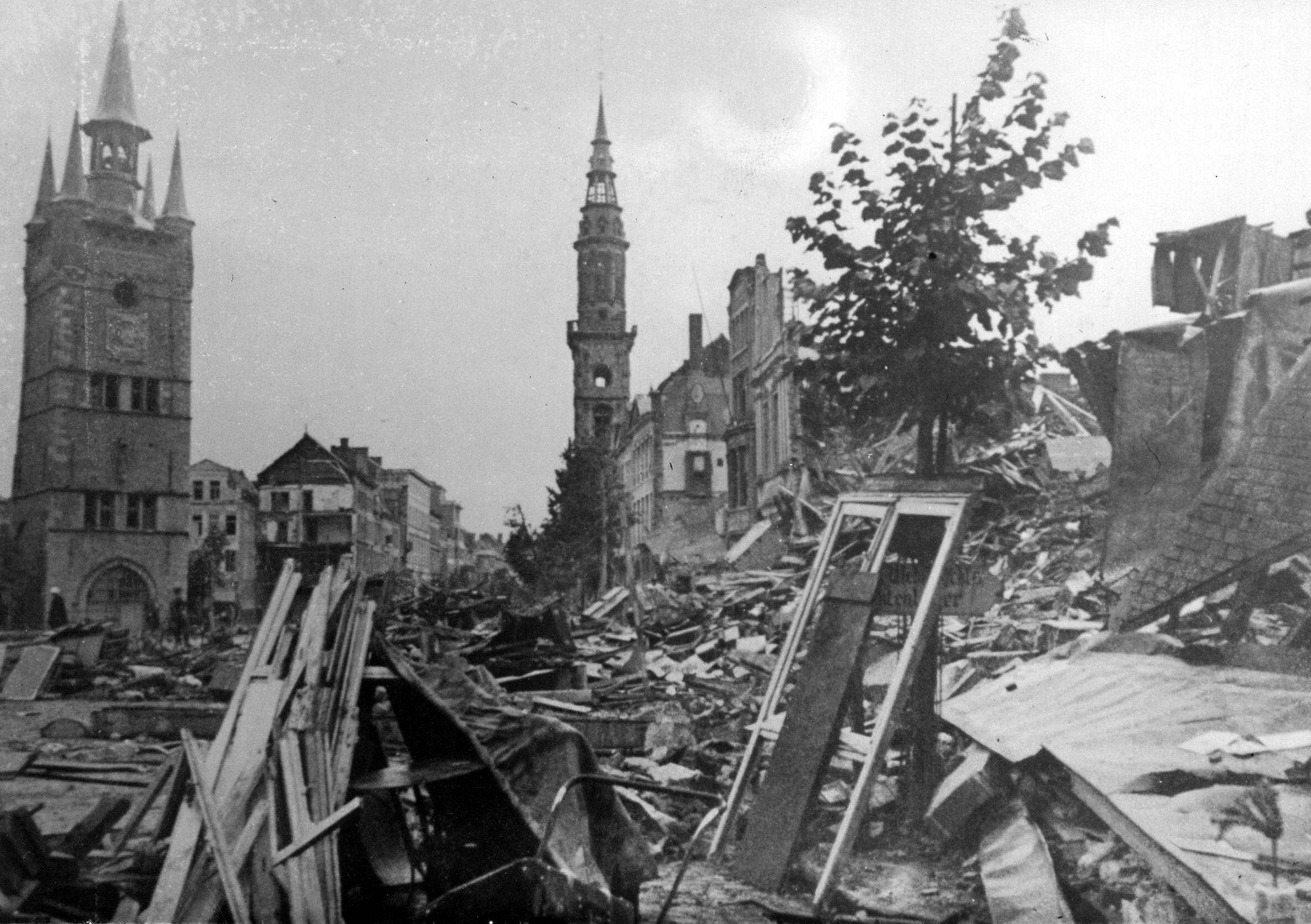 Grote Markt in 1944