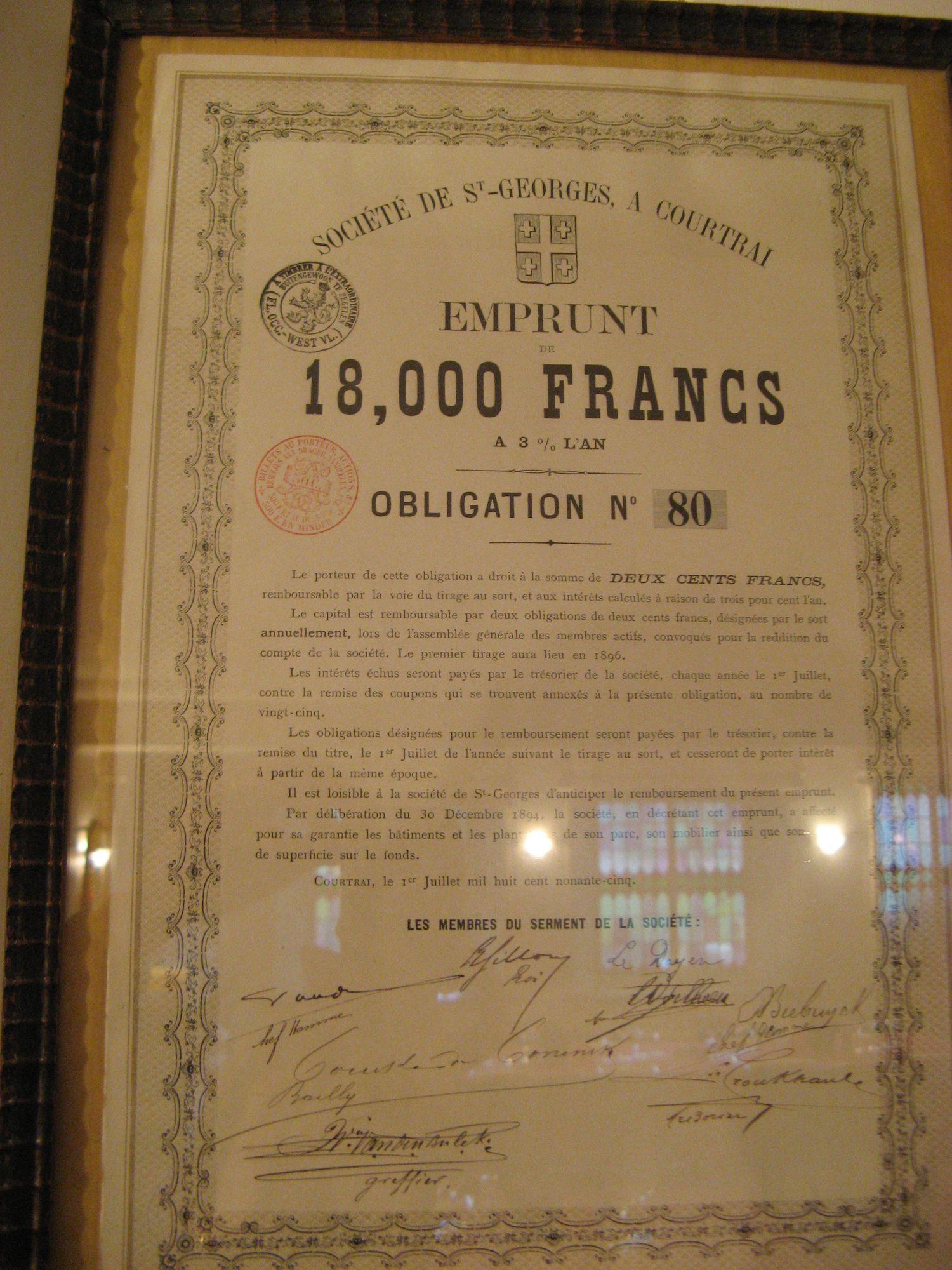 Lening Société de Saint-George