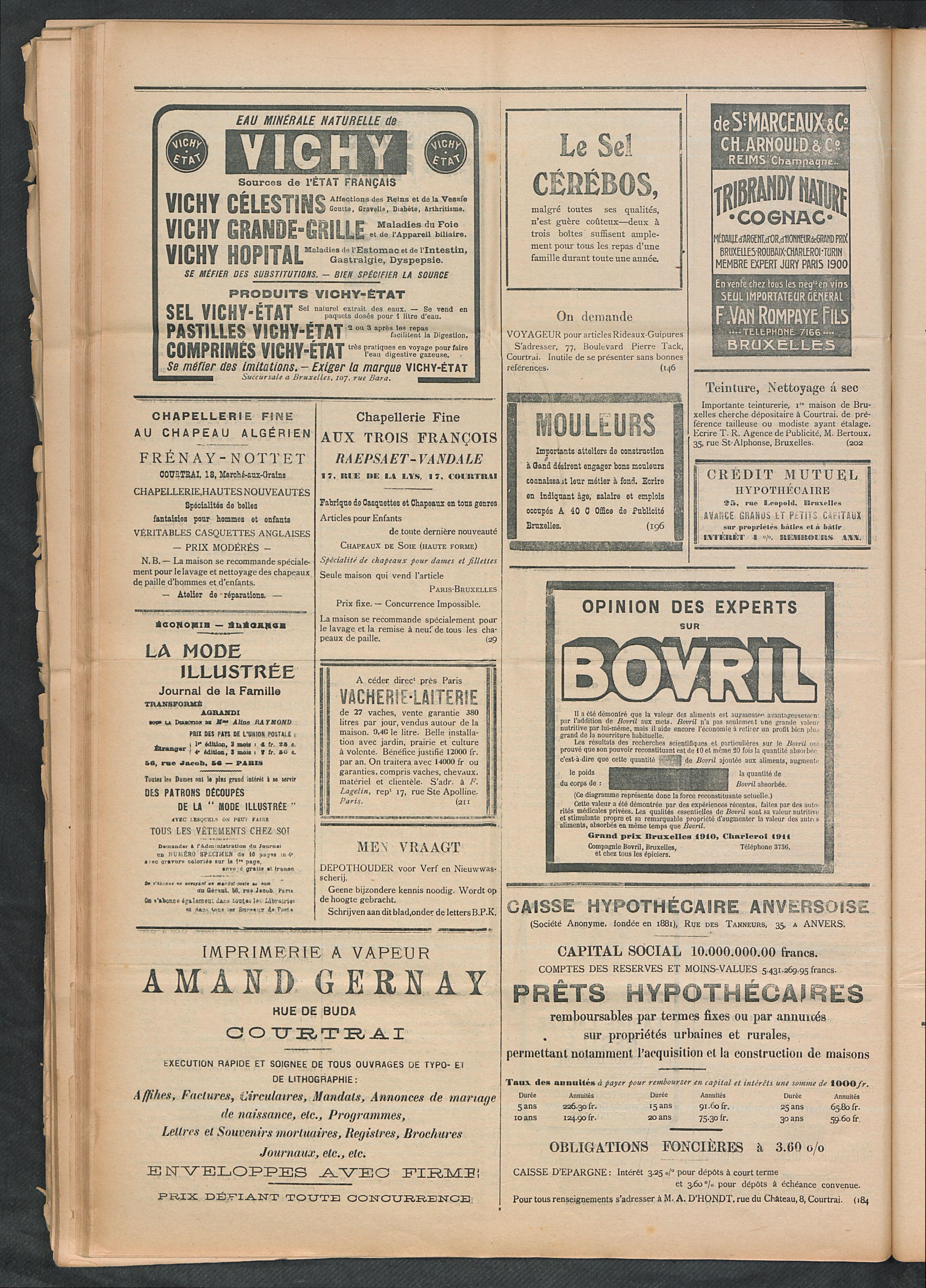 L'echo De Courtrai 1911-11-26 p4