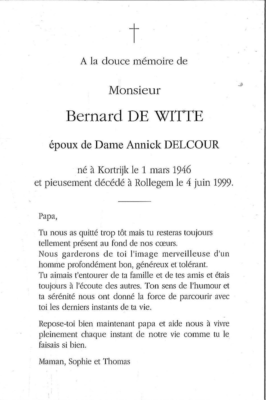 Bernard De Witte