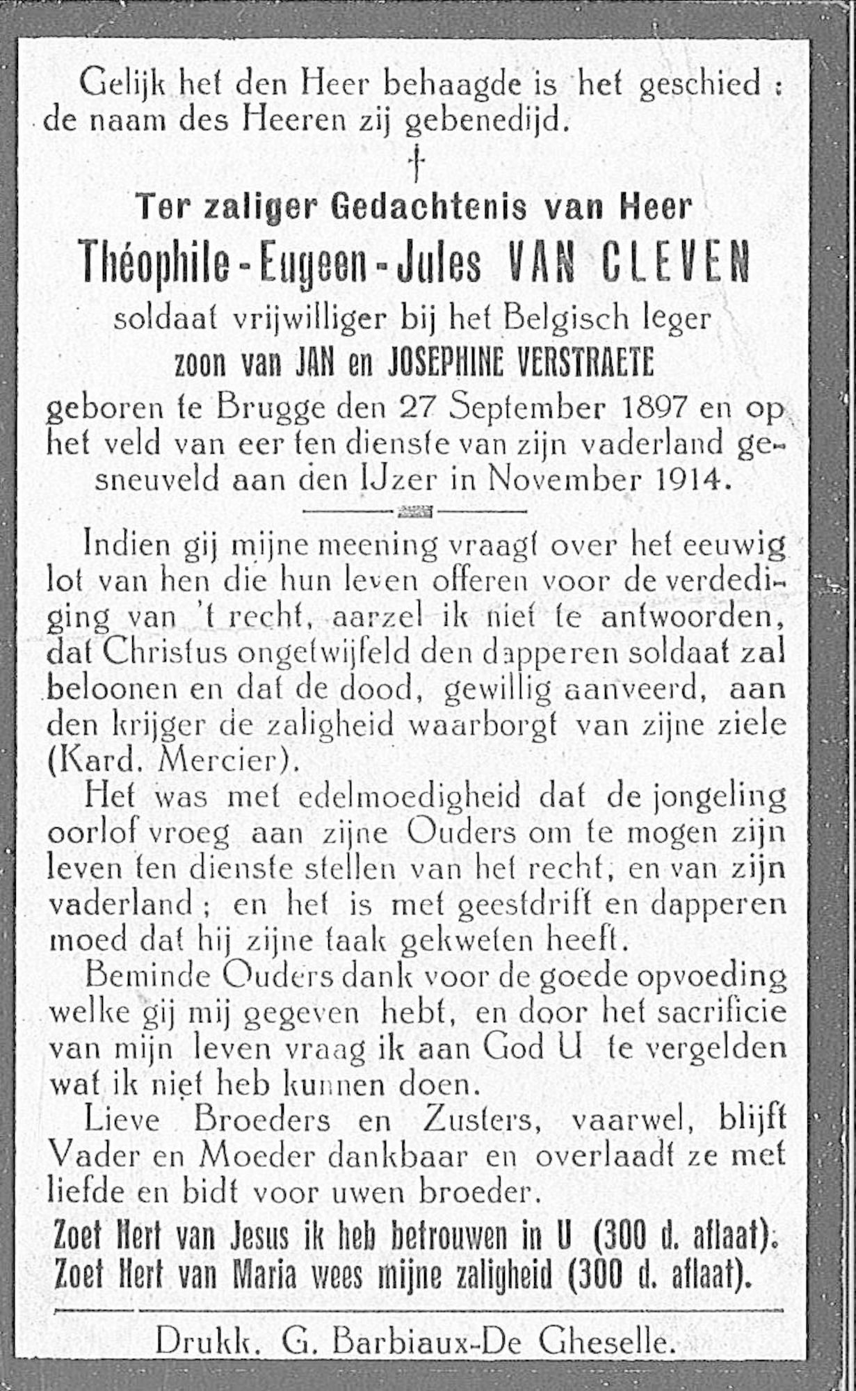 Théophile-Eugeen-Jules Van Cleven