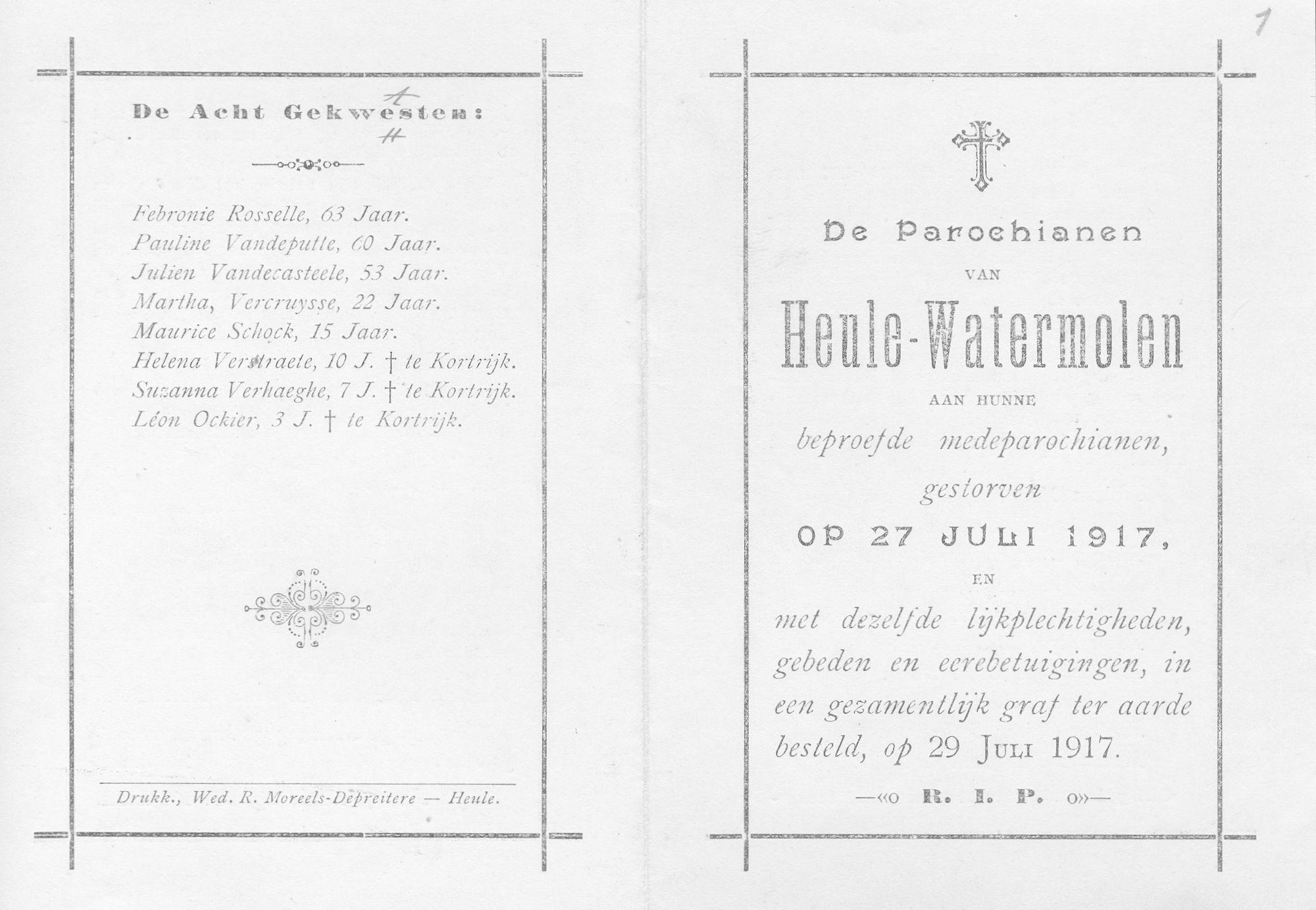 Heule Watermolen in 1917