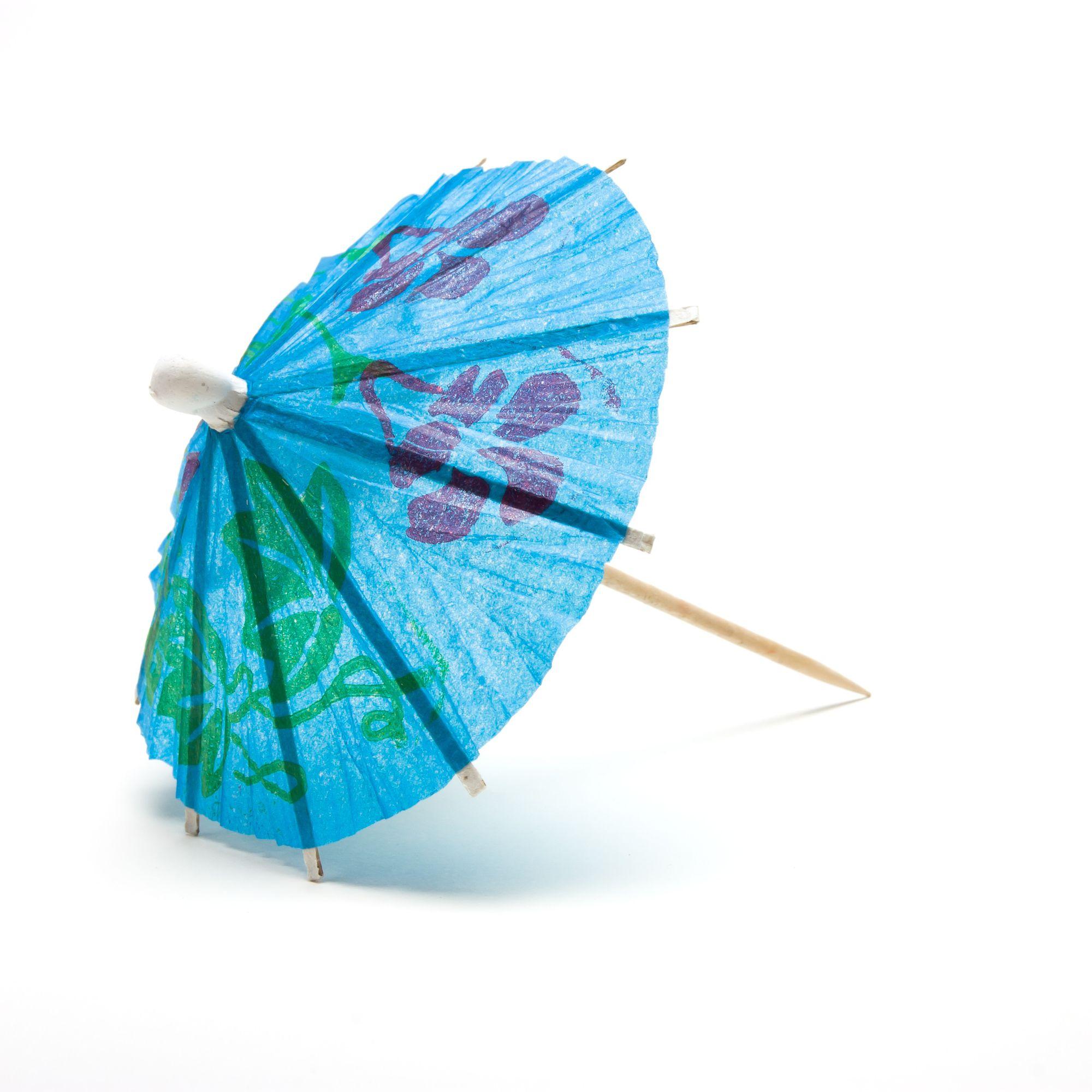 Blauwe paraplu