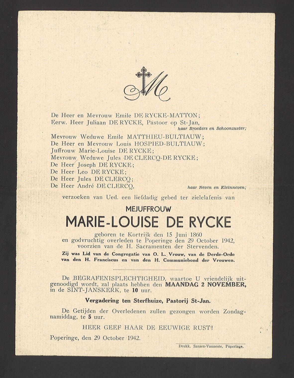 Marie-Louise De Rycke