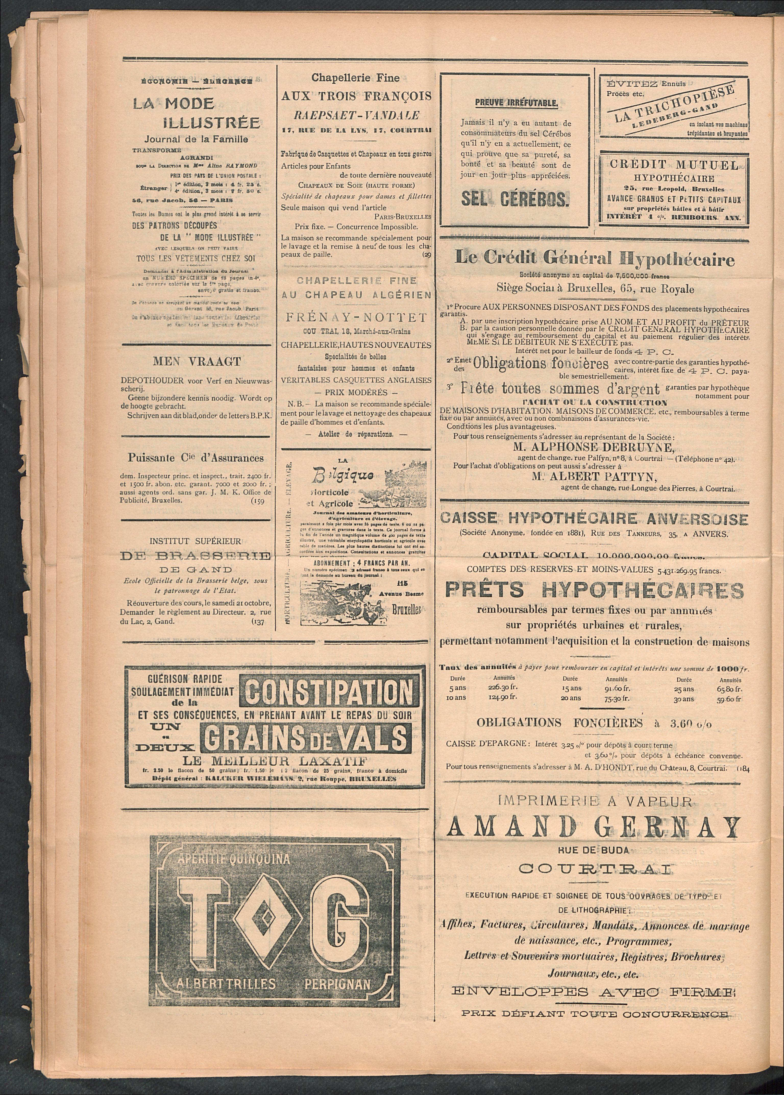 L'echo De Courtrai 1911-09-24 p4