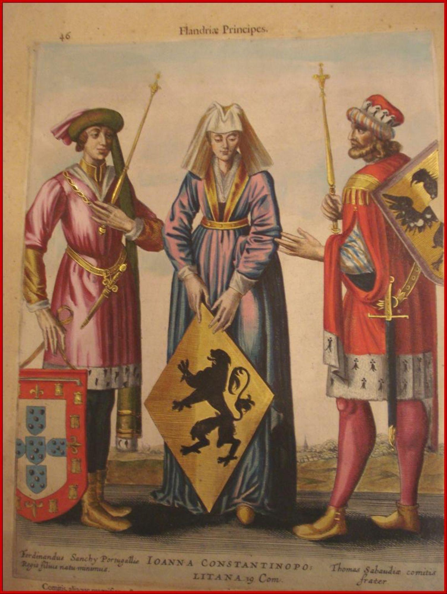 Johanna van Constantinopel met twee echtgenoten in Flandria Illustrata