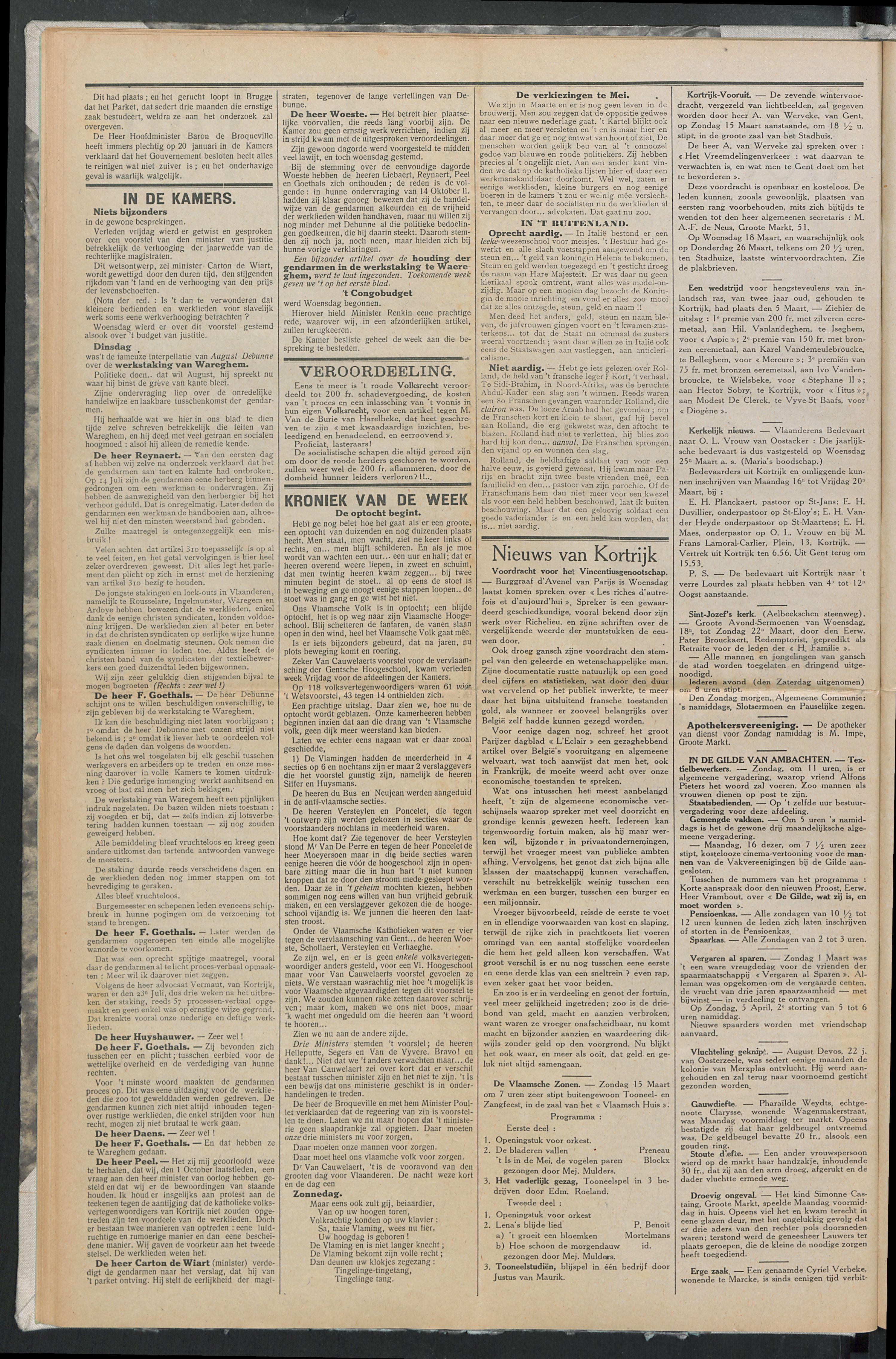 Het Kortrijksche Volk 1914-03-15 p2