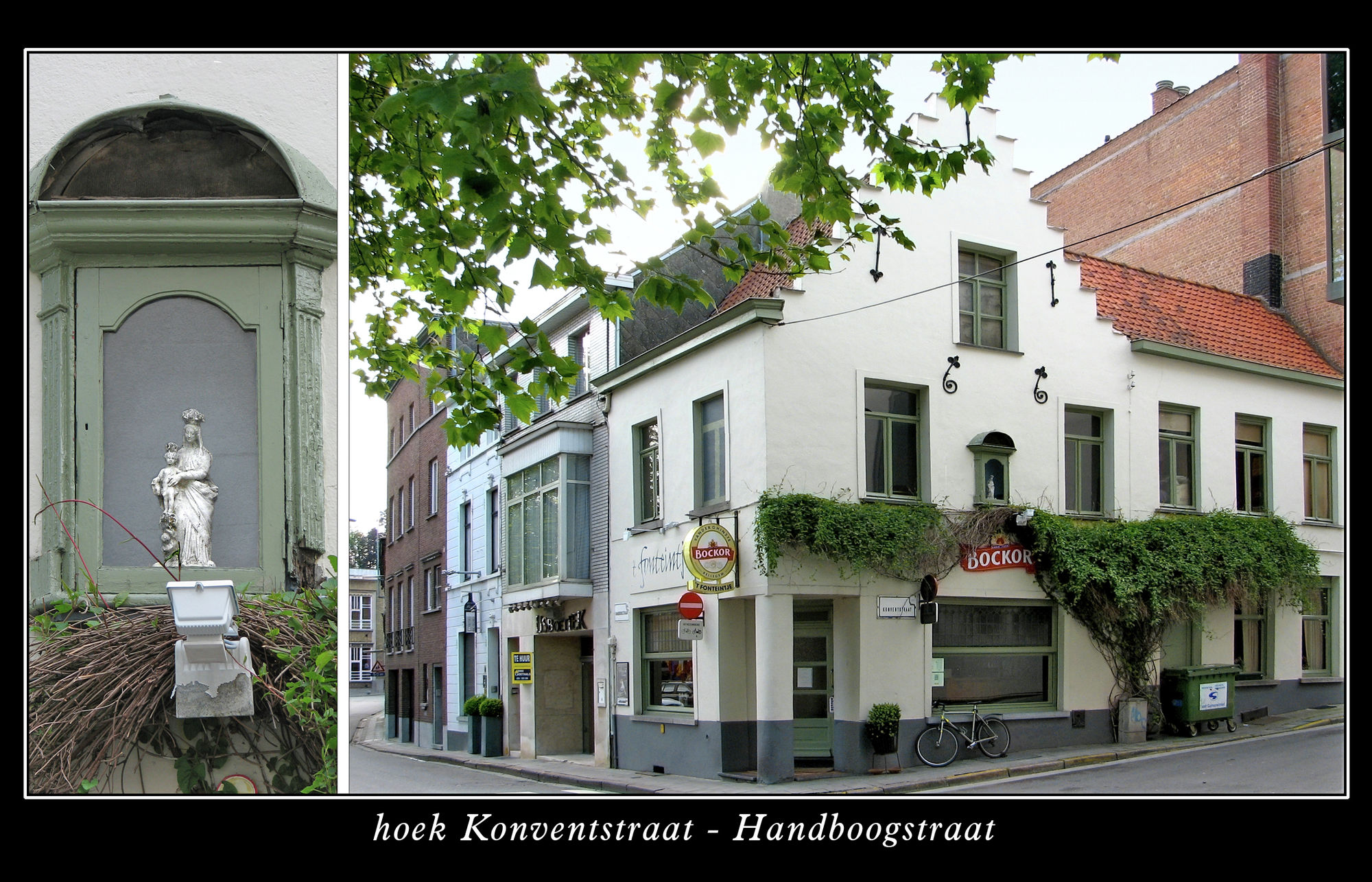 Muurkapel hoek Konventstraat-Handboogstraat
