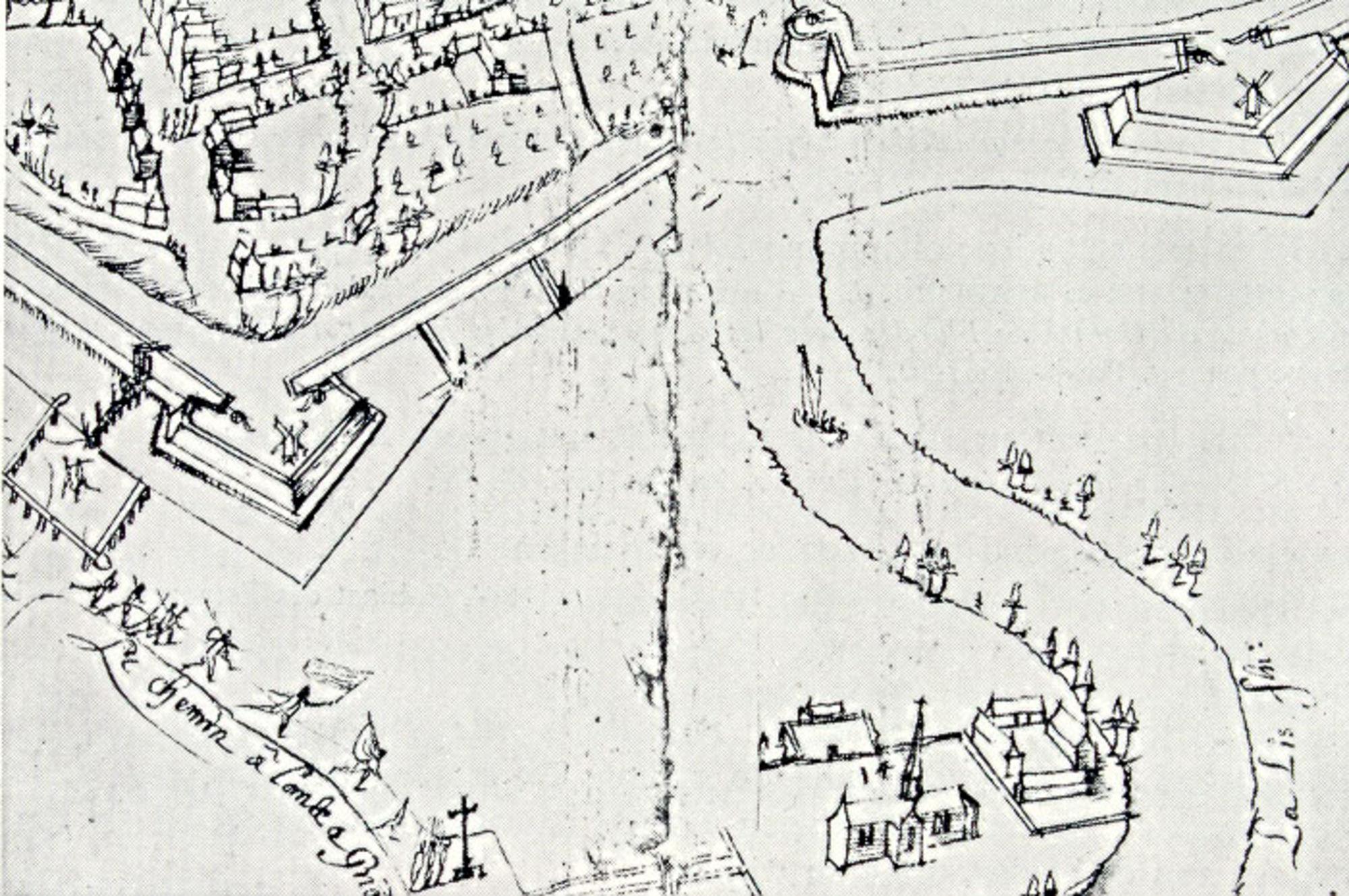 Topografisch voorstelling van de Groeningabdij