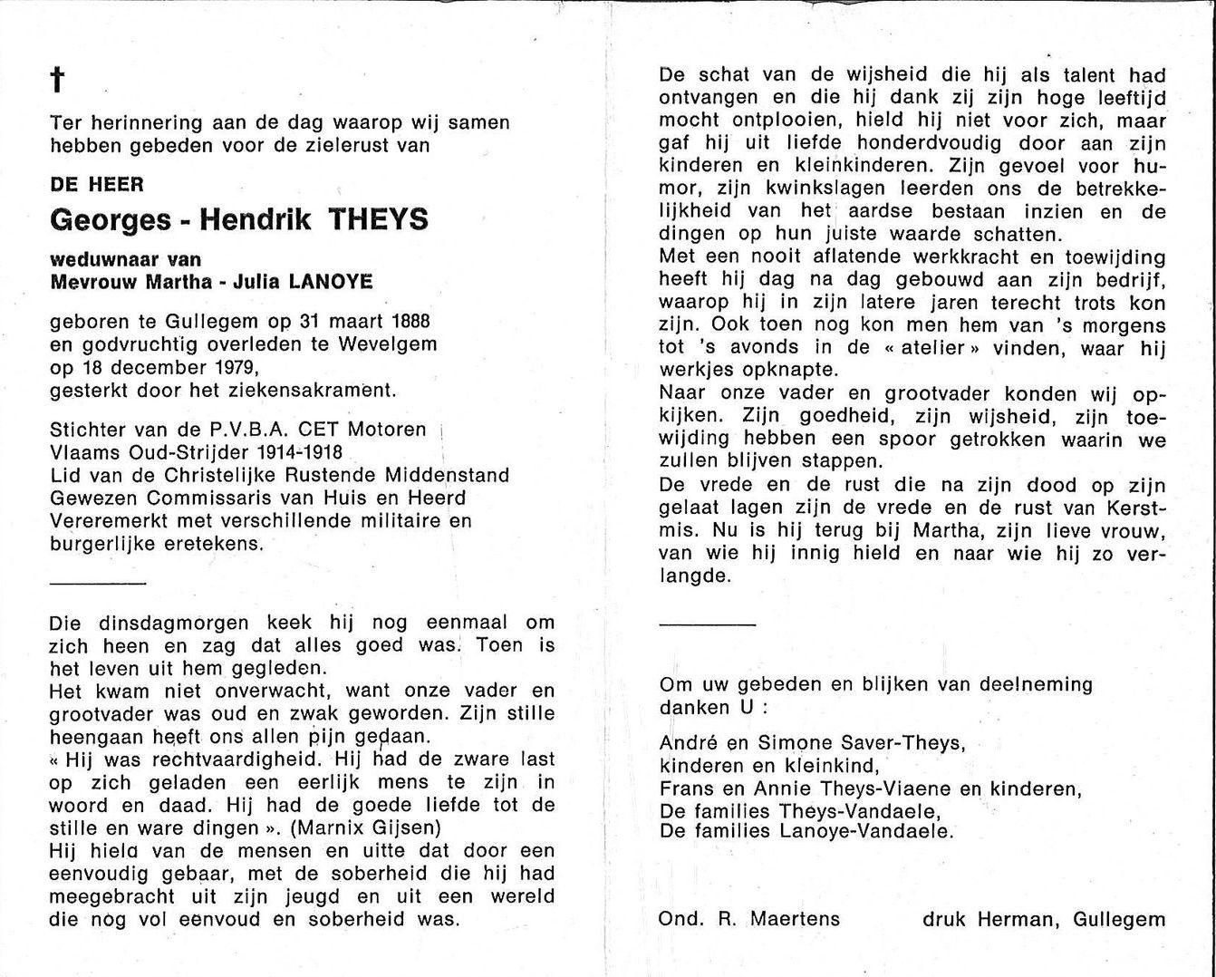 Georges-Hendrik Theys