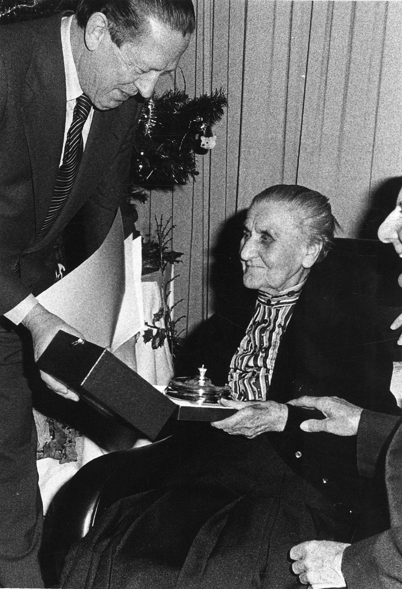 Maria-Louisa Hooghe, 100 jaar