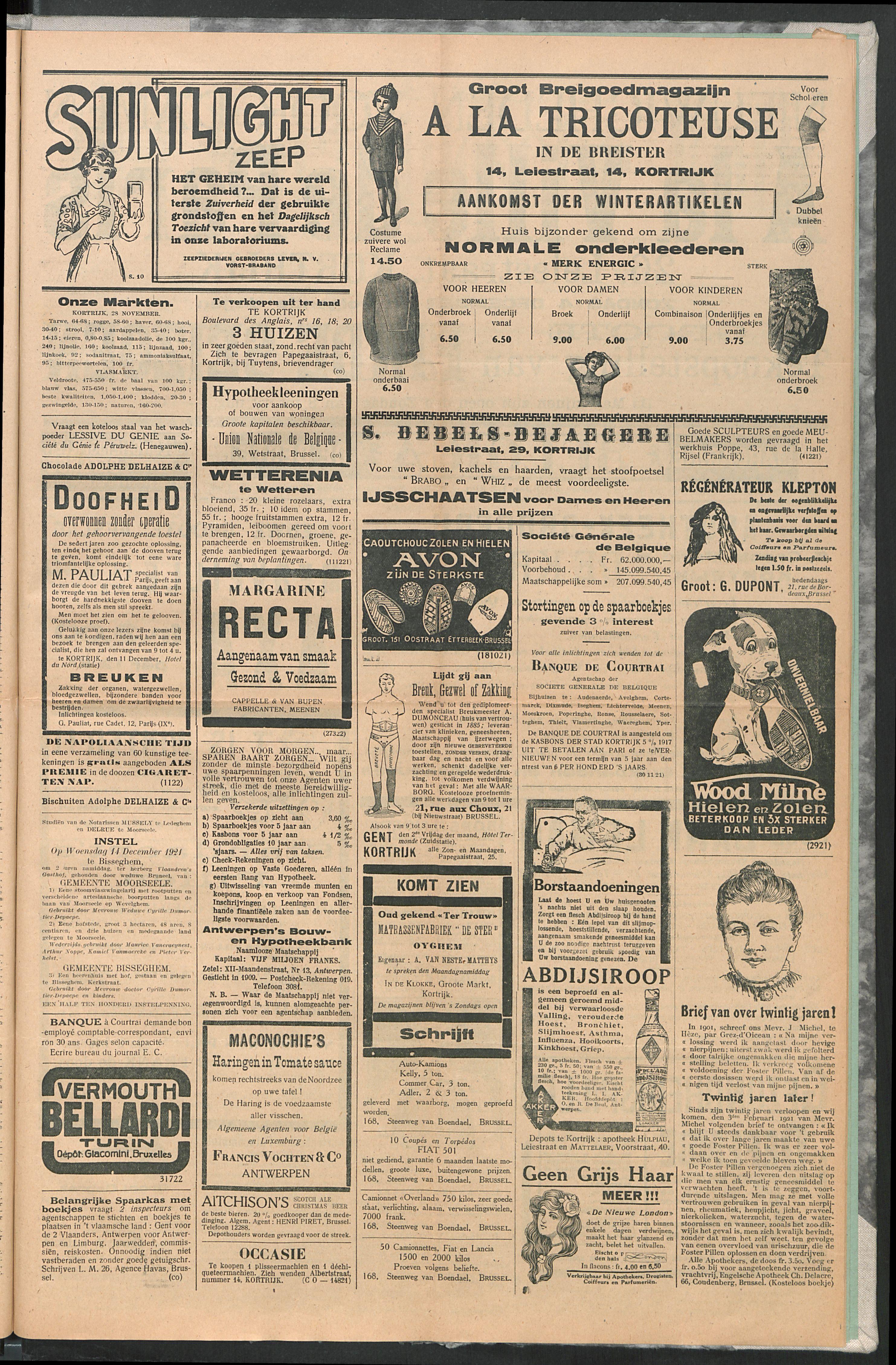 Het Kortrijksche Volk 1921-12-04 p3