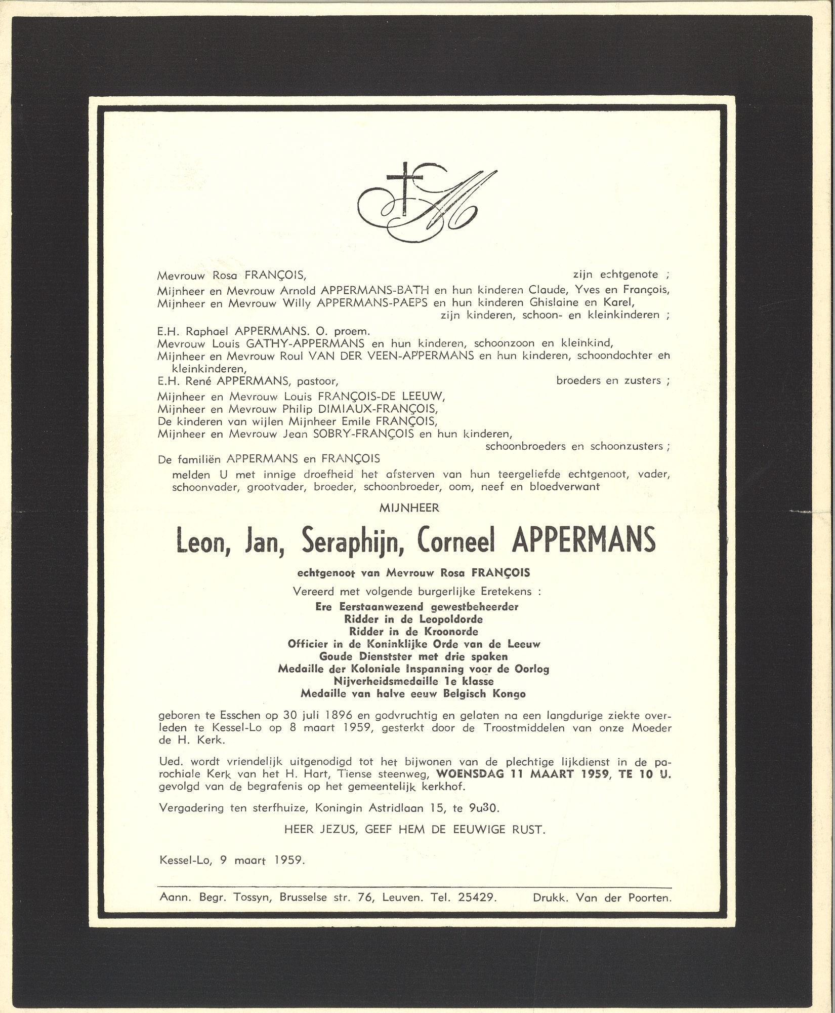 Leon Jan Seraphijn Corneel Appermans