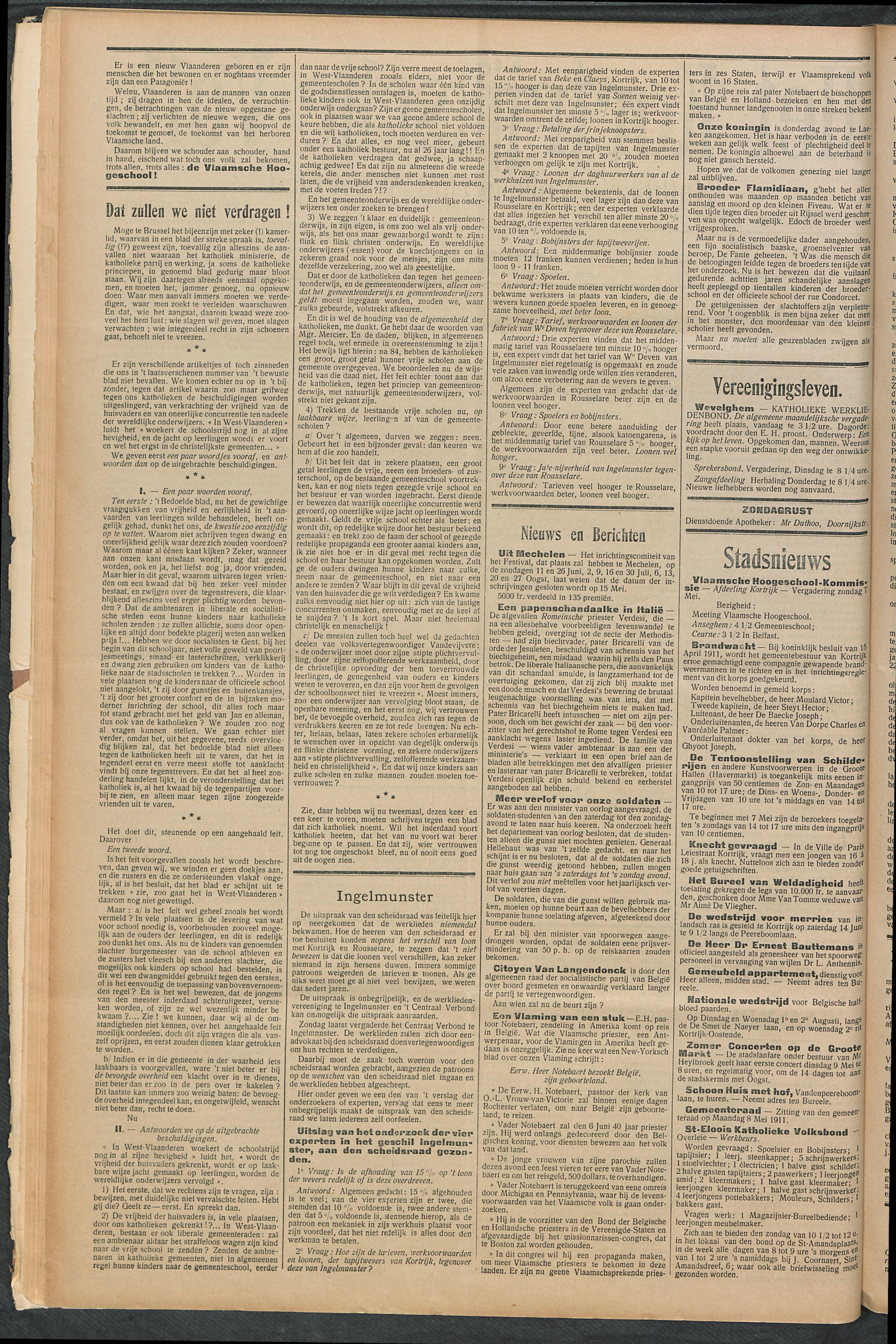 Het Kortrijksche Volk 1911-05-07 p2
