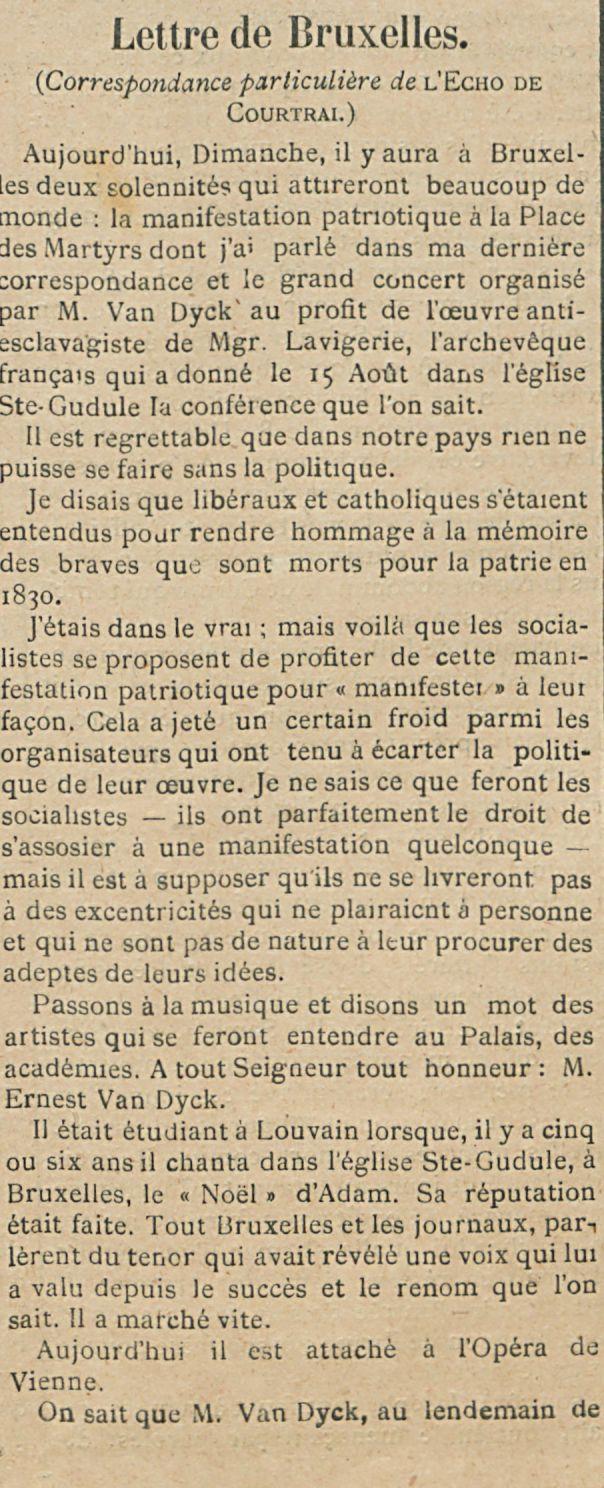 Lettre de Bruxelles