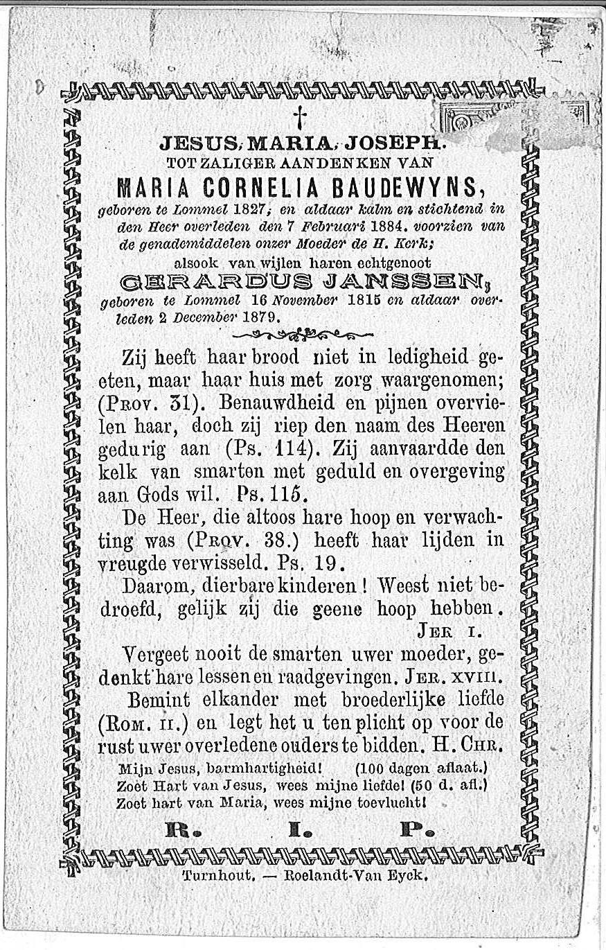 Maria Cornelia Baudewyns