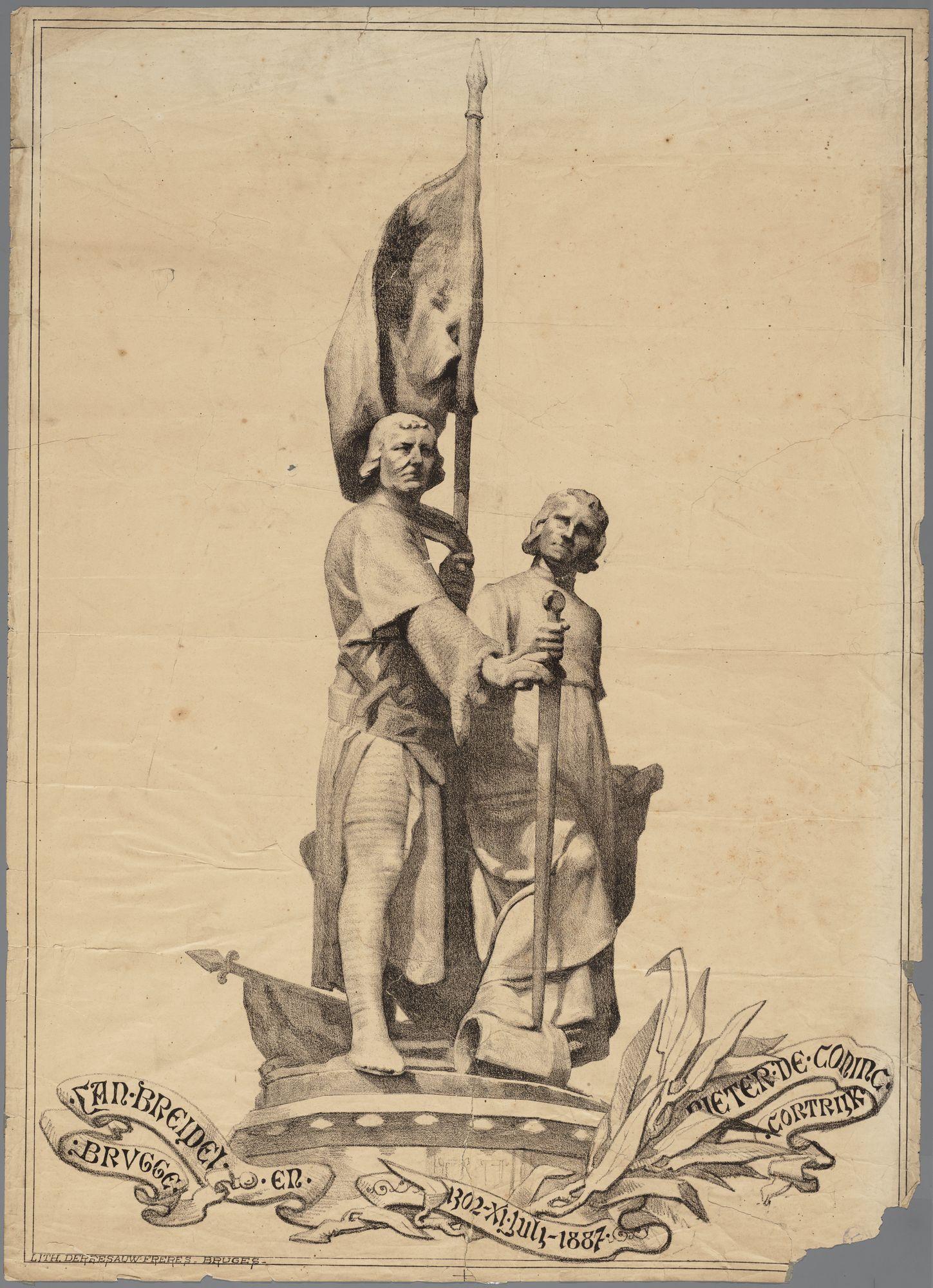 Lithographie van Jan Breidel en Pieter De Coninck1887