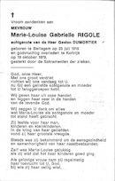 Marie Louise Gabrielle Rigole