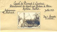 Kanaal Bossuit-Kortrijk, waterdicht maken van de dijken 1925  Kanaal Bossuit-Kortrijk, waterdicht maken van de dijken 1925  Kanaal Bossuit-Kortrijk, waterdicht maken van de dijken 1925