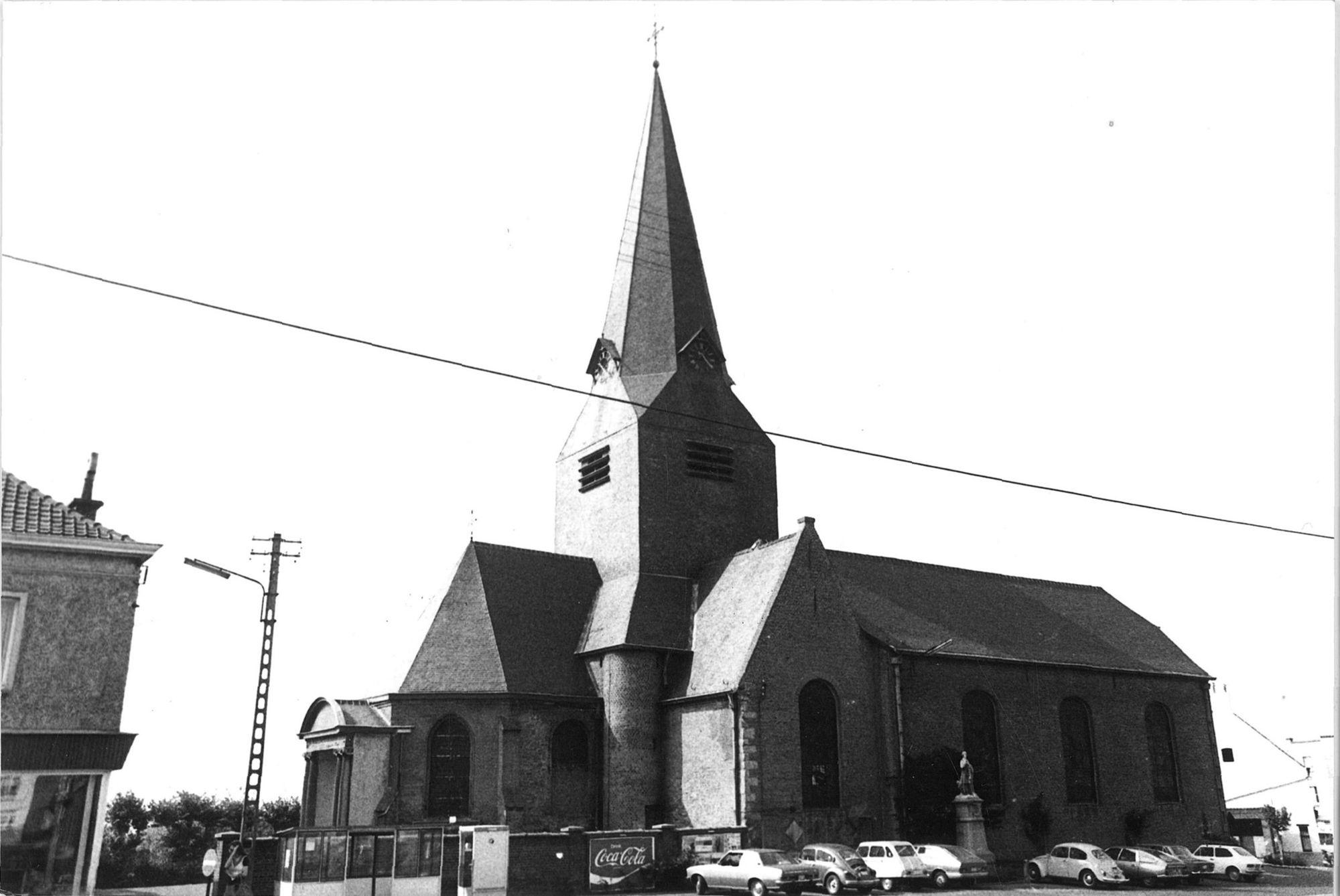 De Sint-Amanduskerk van Bellegem
