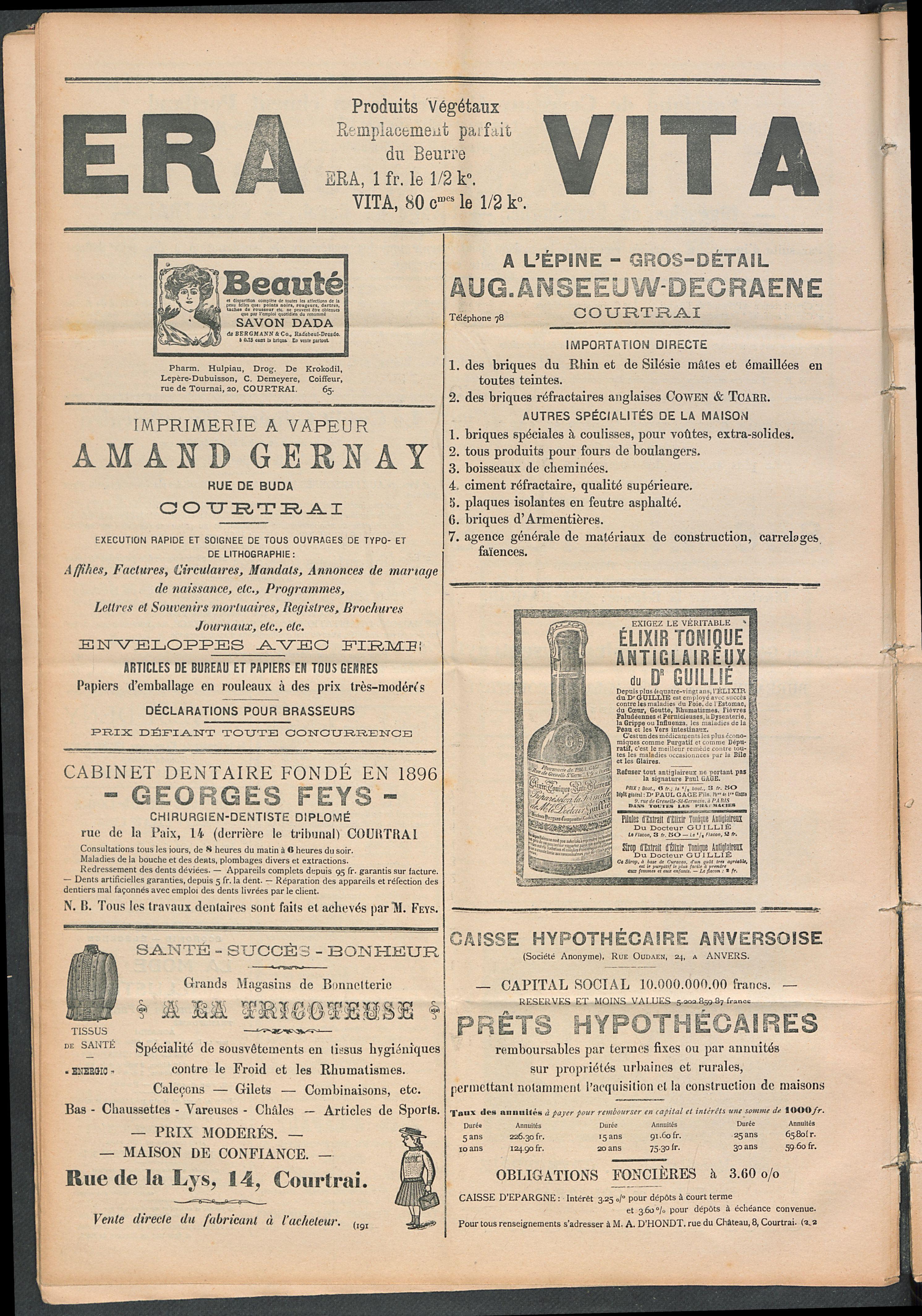 L'echo De Courtrai 1910-02-20 p6