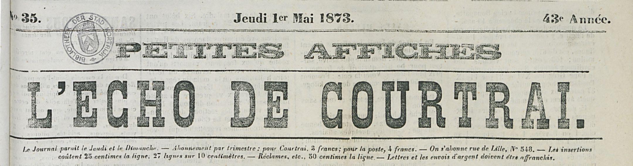 L'ÉCHO DE COURTRAI