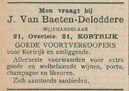 J Van Baeten Deloddere
