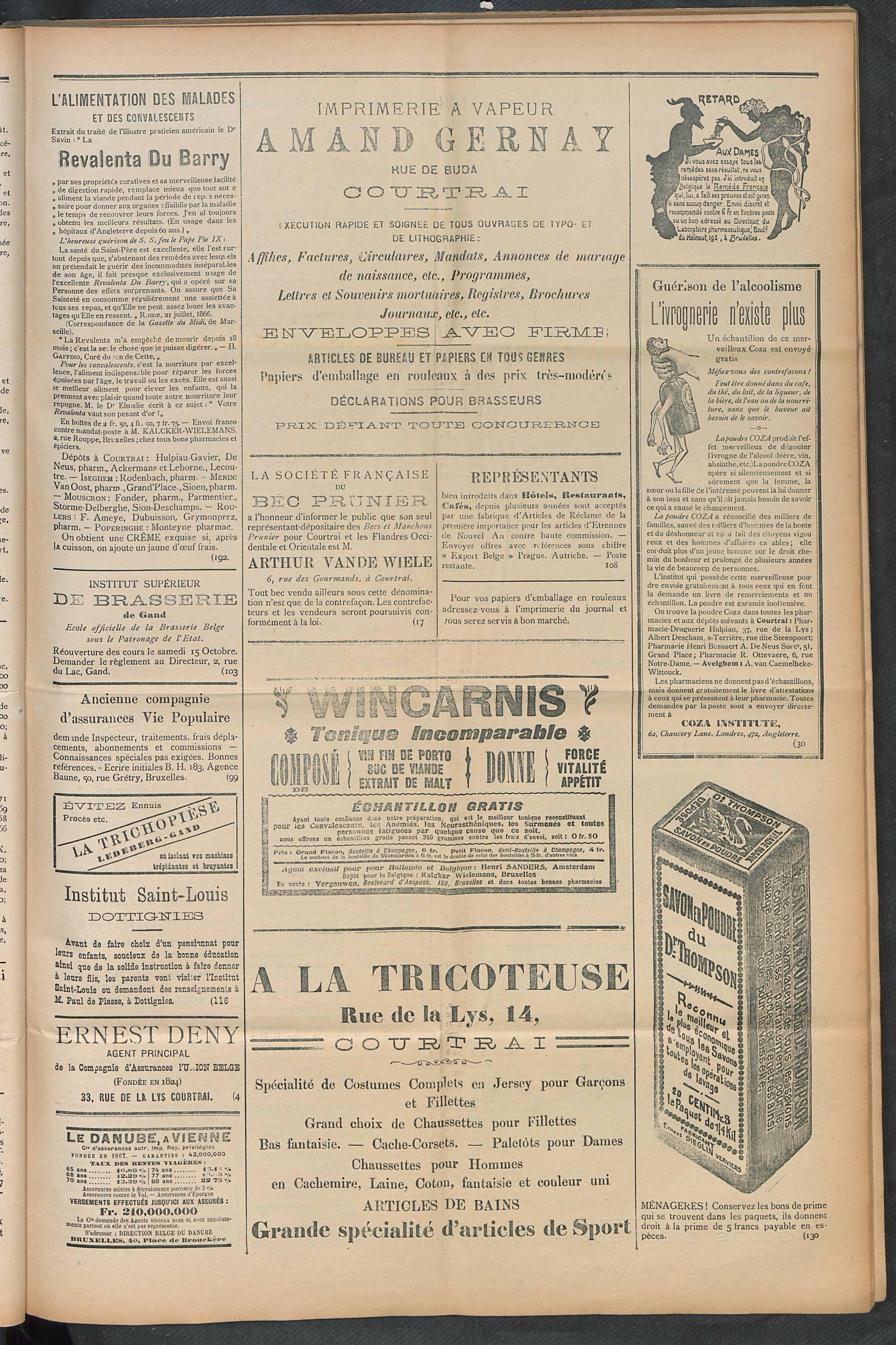 L'echo De Courtrai 1910-08-18 p3